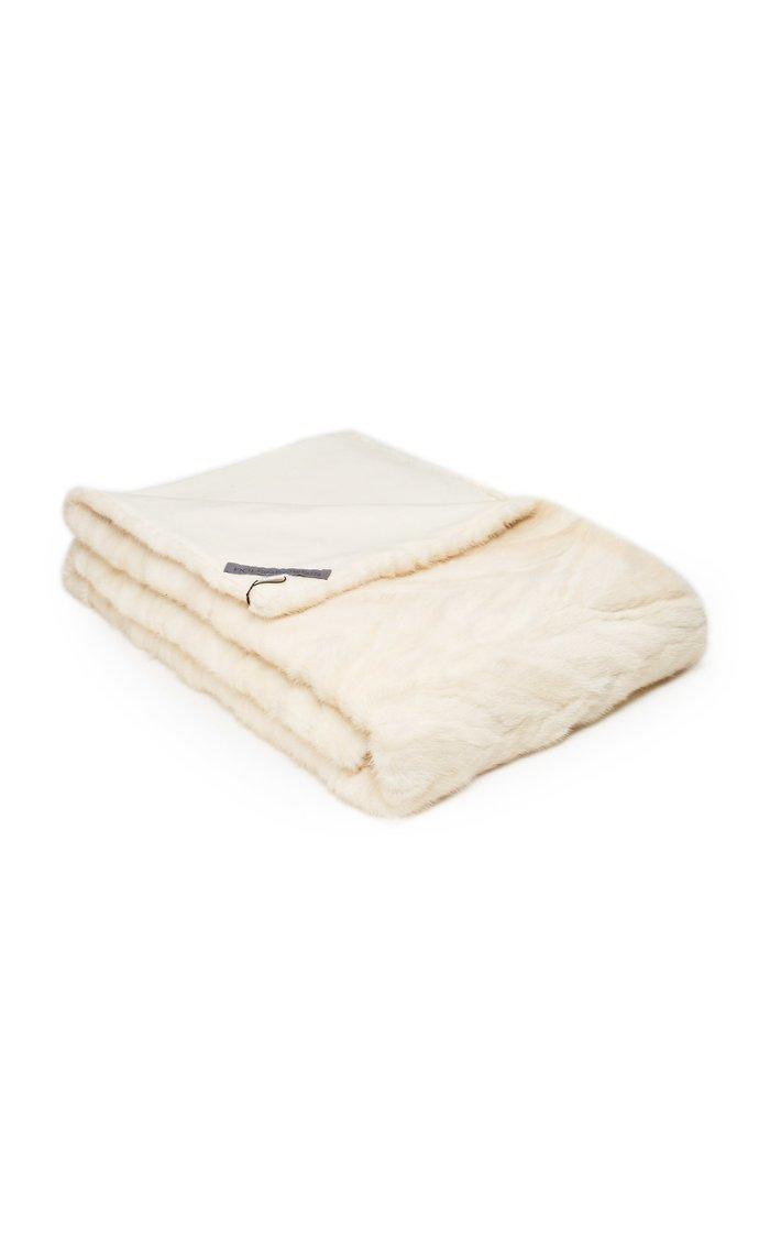 Patchwork Mink Fur Blanket