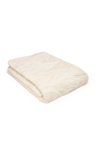 Patchwork Mink Fur Blanket