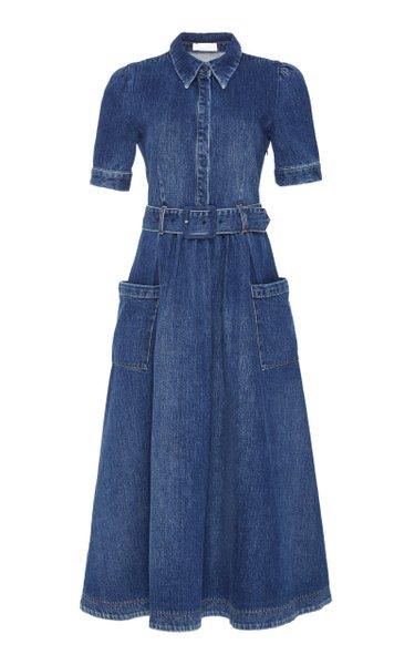 Denim Shirt Midi Dress