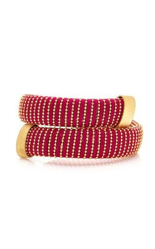 Magenta Caro Gold-Plated Bracelet