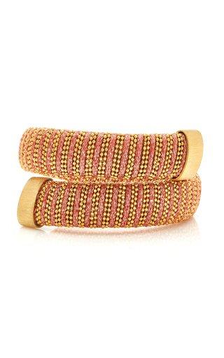 Coral Lurex Caro Gold-Plated Bracelet