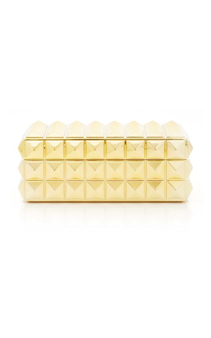 Pyramid Small Rectangular Gold Box