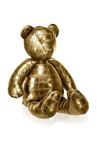 24K Gold Crocodile Teddy Bear