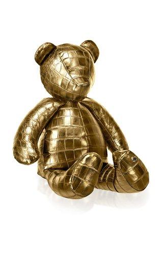 24K Gold Crocodile Teddy Bear