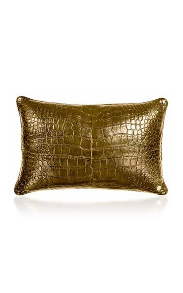 24K Gold Crocodile Pillow