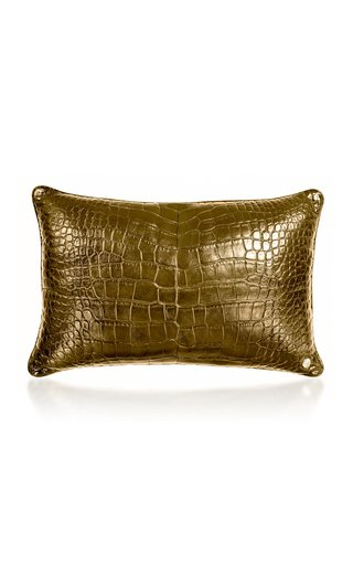 24K Gold Crocodile Pillow