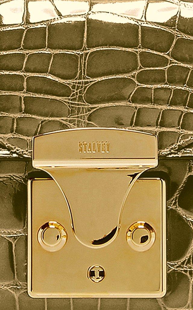 24K Gold Crocodile Mini Top Handle 2.0 Bag