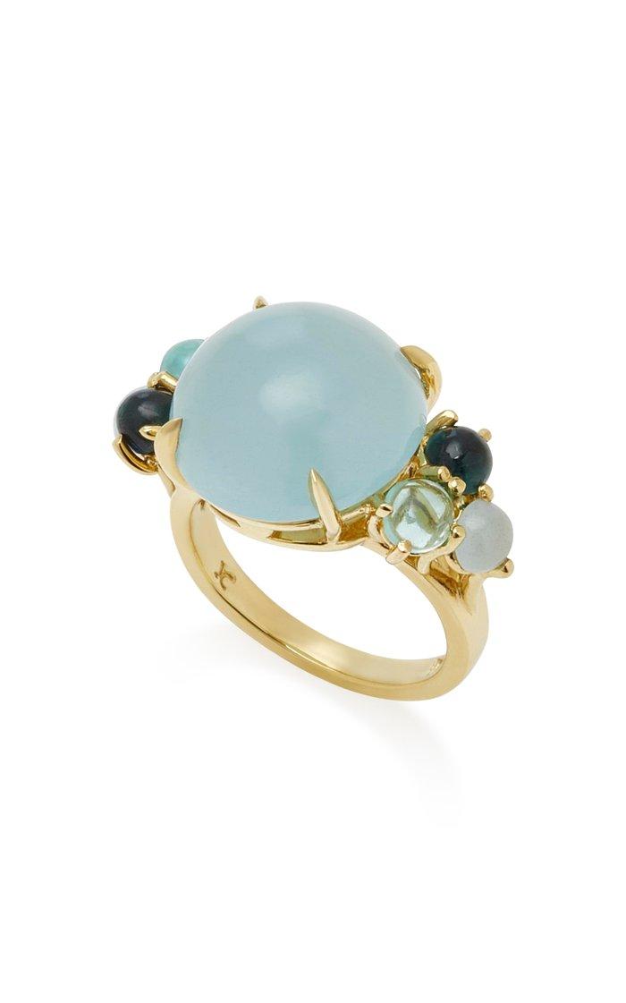 Dagny 18K Yellow Gold Multi-Stone Grande Ring