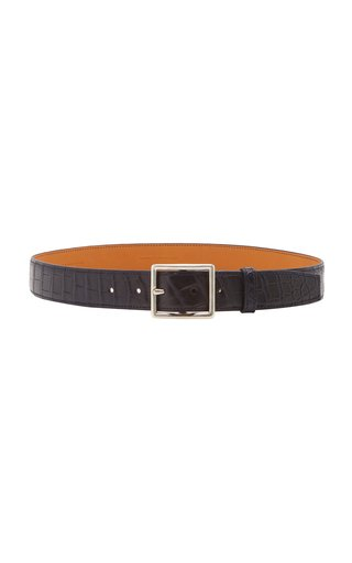 Exclusive Crocodile Skinny Belt
