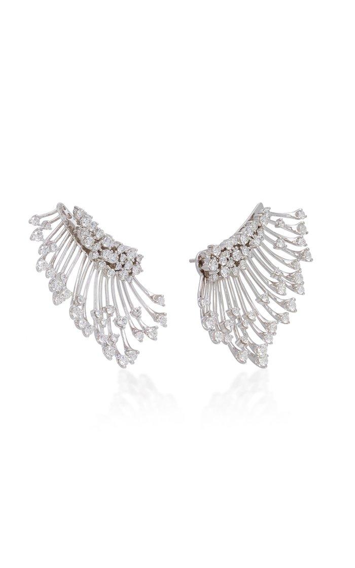 Luminus 18K White Gold Diamond Earrings