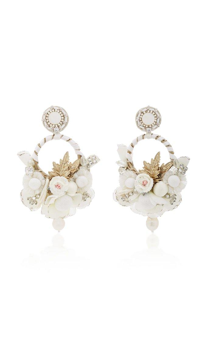 Exclusive Floral Hoop Earrings