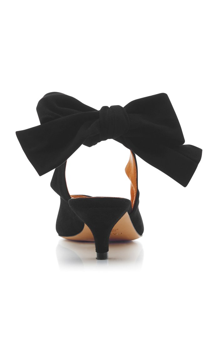 Sabine Bow-Detailed Suede Pumps