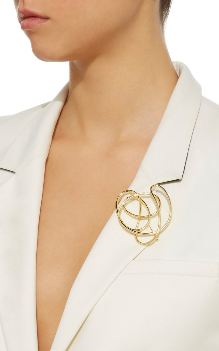 Gold-Plated Knot Brooch