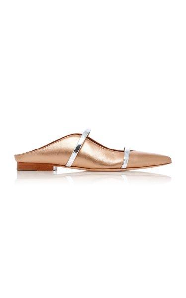 Maureen Metallic Leather Flats