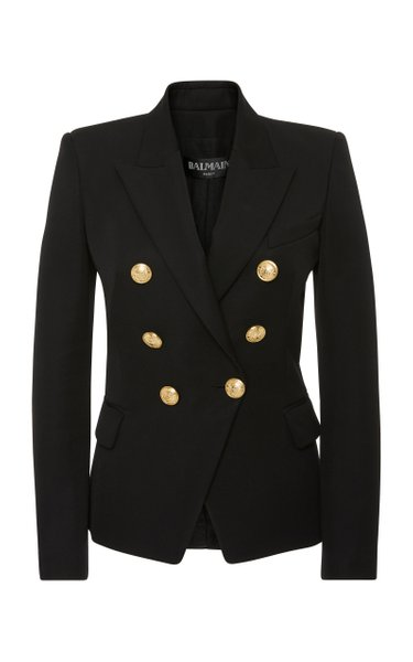 Tailored Double-Breasted Wool Blazer