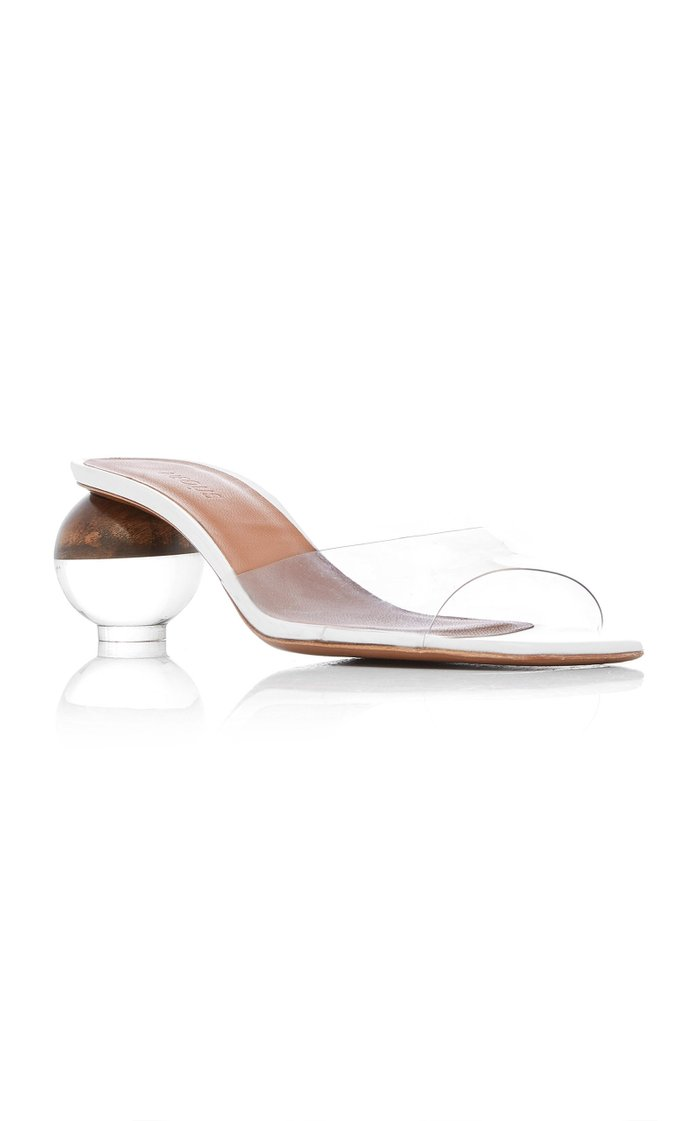 Opus PVC-Trimmed Leather Sandals
