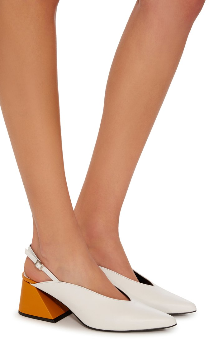 Exclusive Slingback Leather Pumps