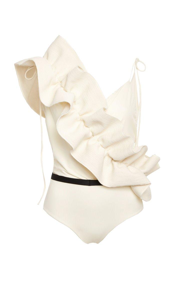 M'O Exclusive La Perla Ruffle One Piece Swimsuit