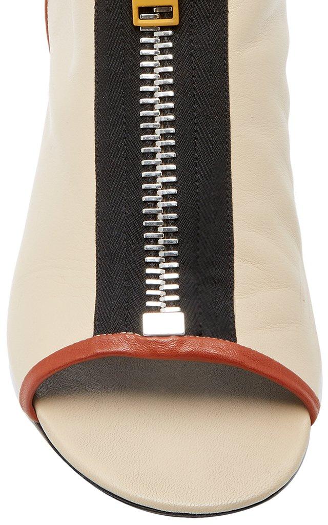 Zipper Peep Toe Ankle Boot