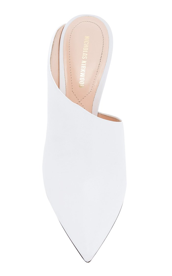 Mira Pearl Embellished Leather Mule