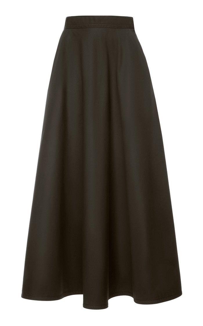 Cotton-Blend A-line Skirt