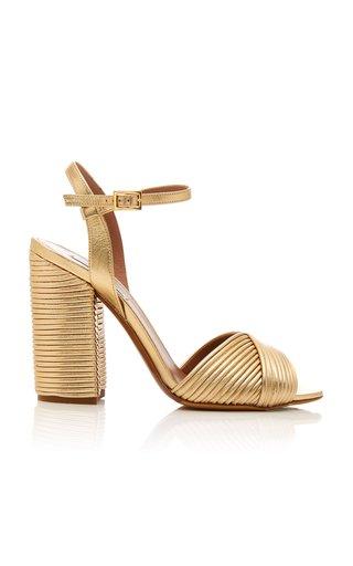 Kali Metallic Leather Sandals