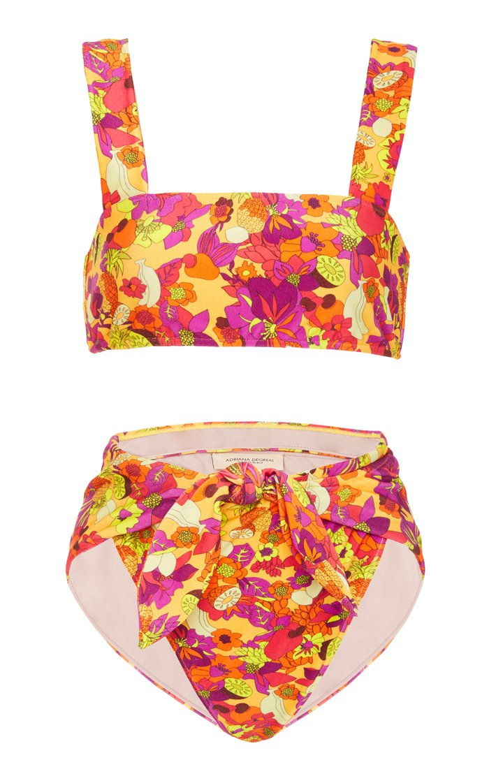 Fruits Print High Leg Bikini