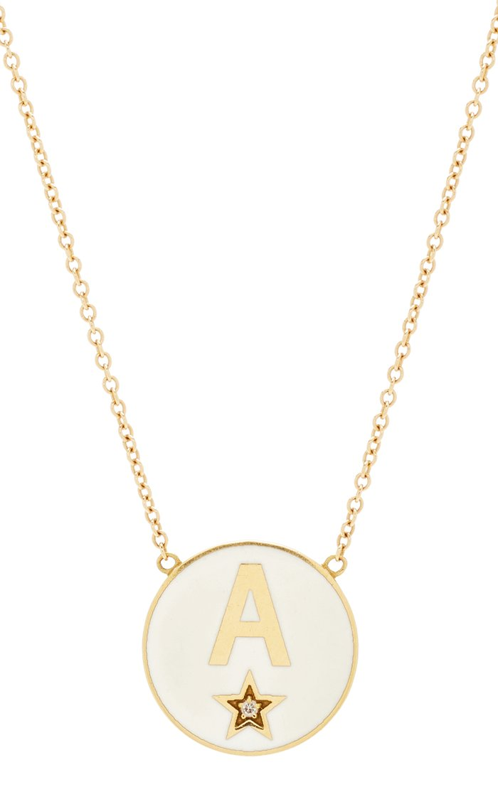Custom Enamel Initial Necklace