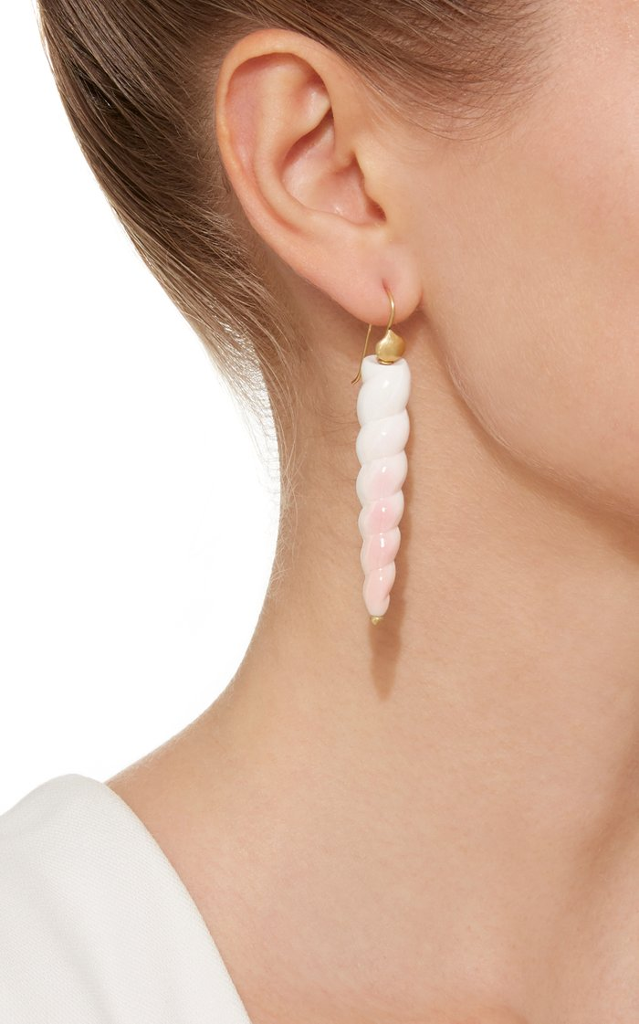Exclusive Fancy Pink Conch Shell Earring
