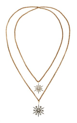 Ava One-Of-A-Kind Antique Gold And Diamond Double Necklace