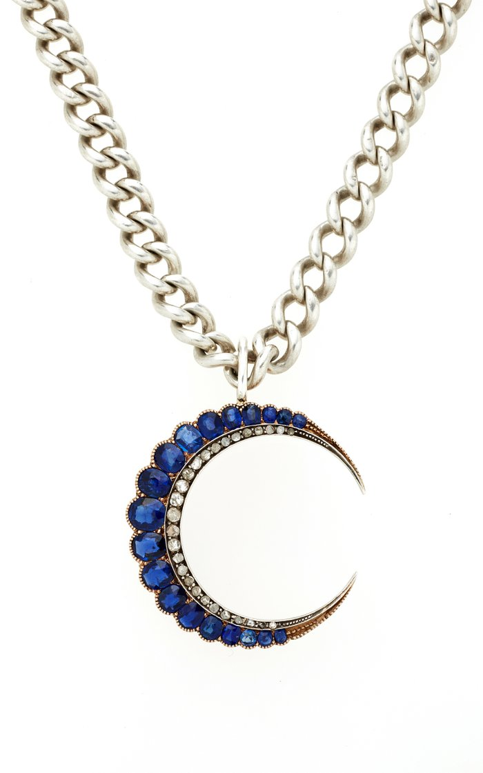 Penny One-Of-A-Kind Antique Silver And Sapphire Necklace