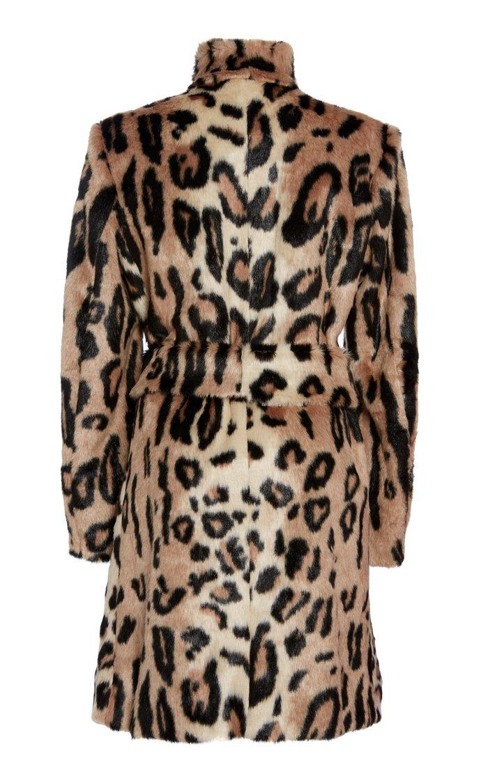 Cica Leopard Eco Fur Coat