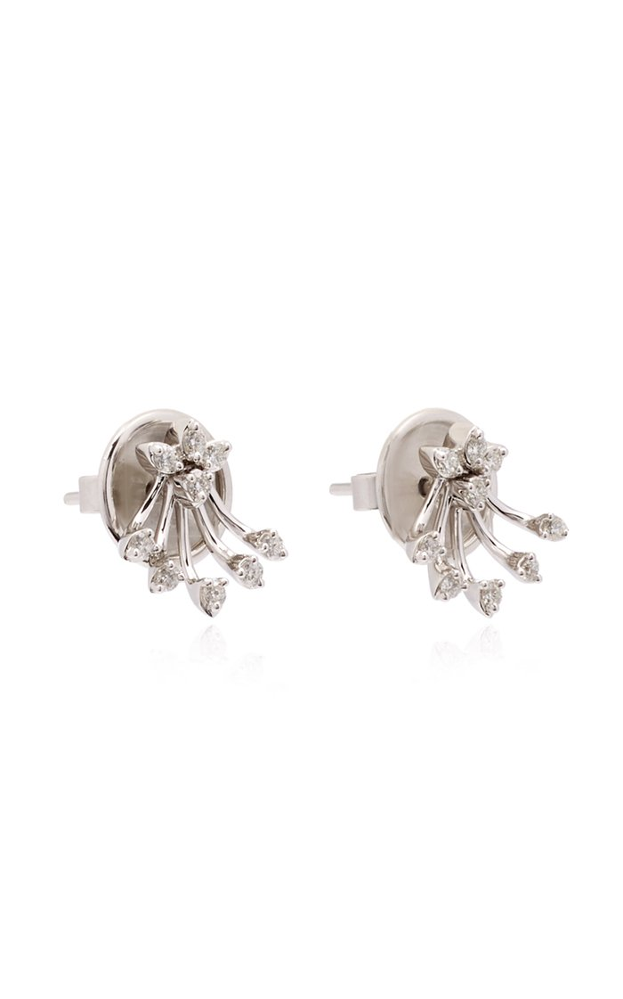 Exclusive 18K White Gold And Diamond Earrings