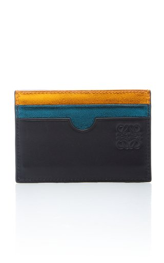 Rainbow Plain Leather Card Holder