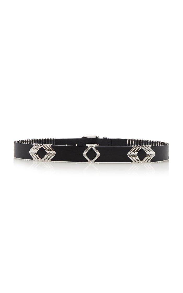 Tehora Embellished Leather Belt