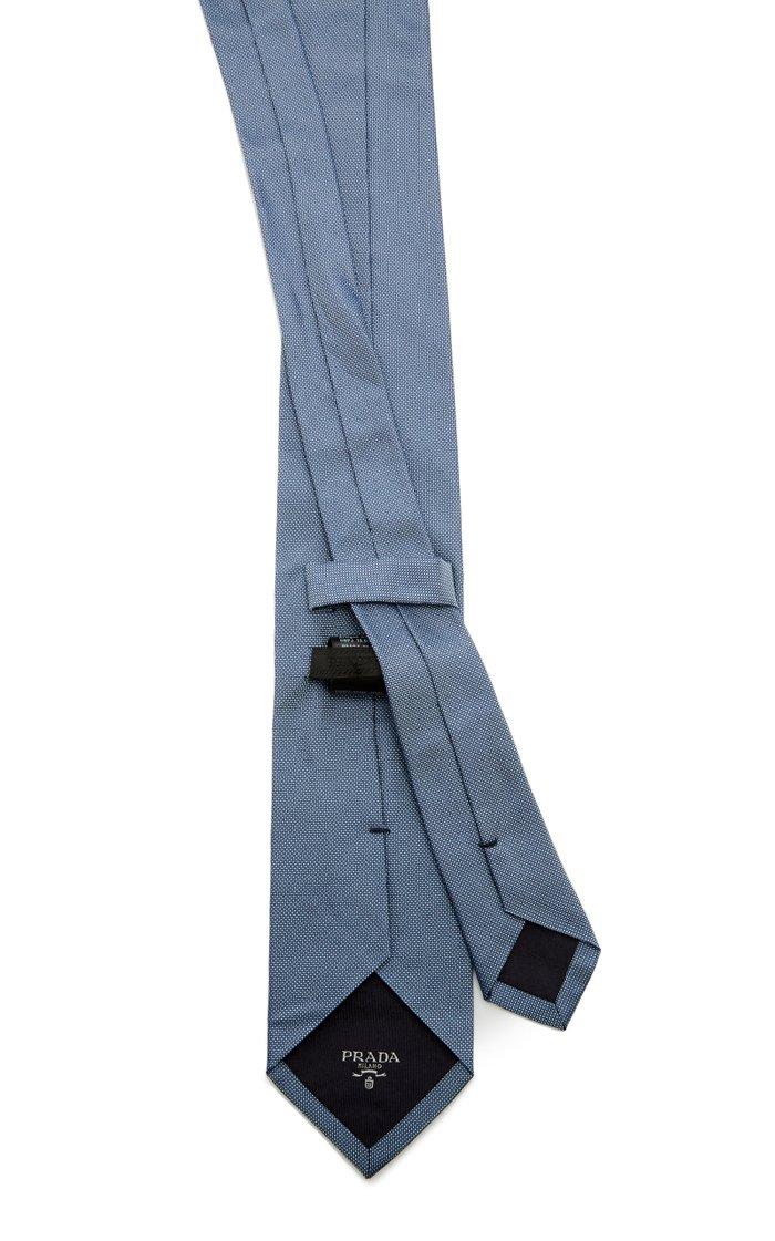 Pin-Dot Silk Tie
