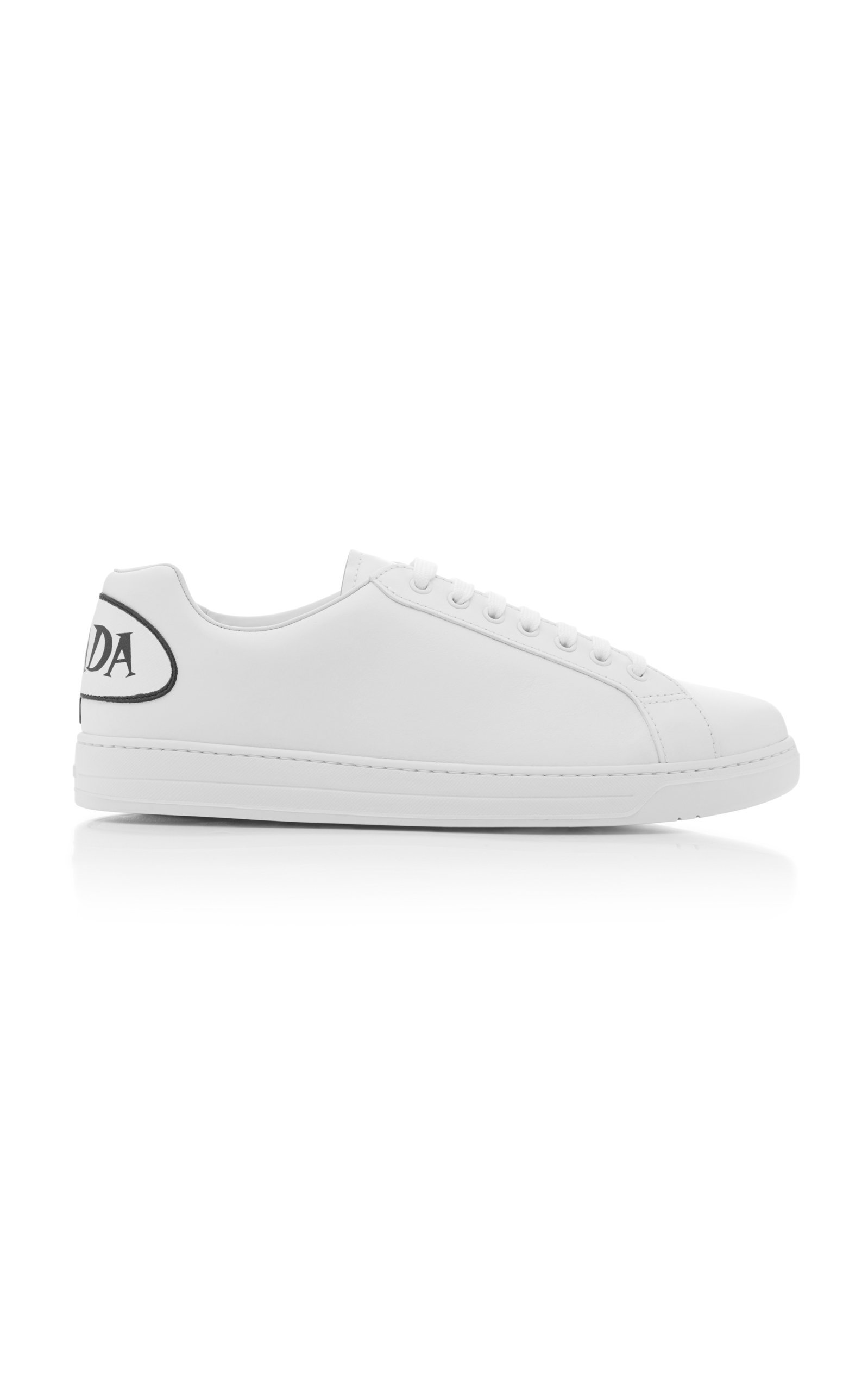 Leather Comic Logo Sneakers By Prada