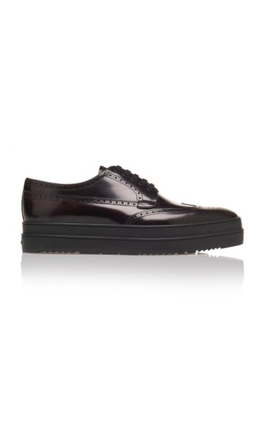 Thick-Soled Cordovan Wing Tip Shoes