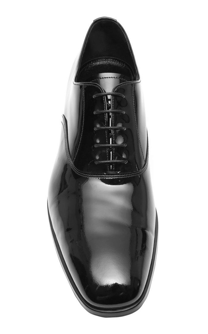 Patent Leather Tuxedo Shoes
