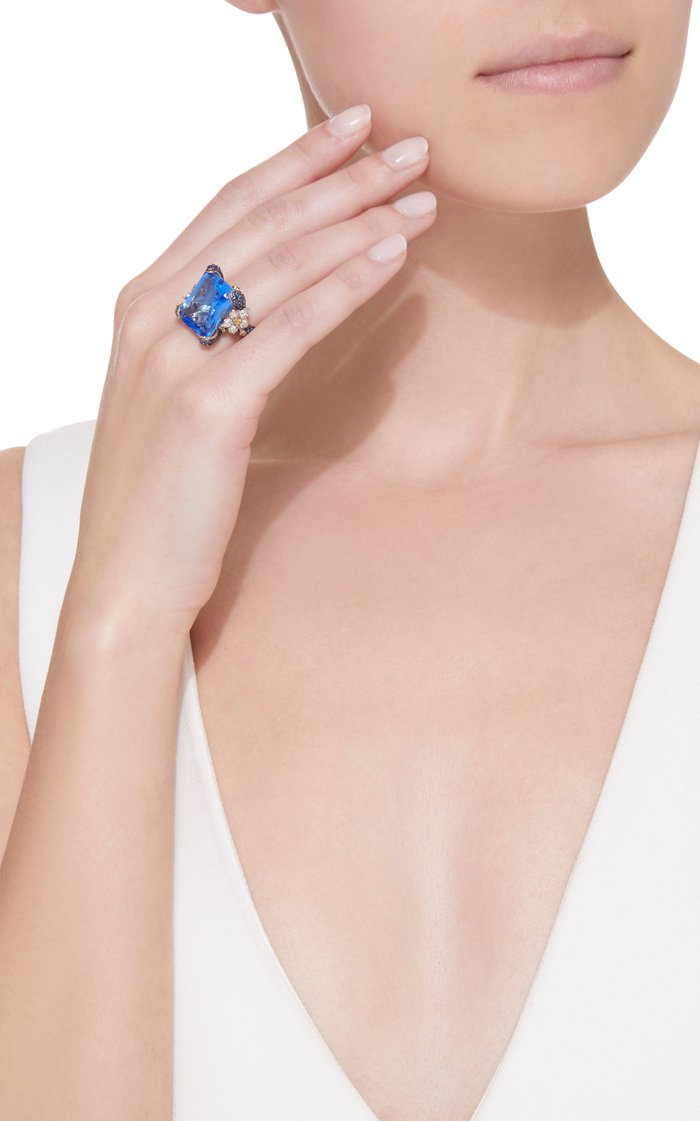 Cinderella 18K Gold, Sapphire And Diamond Ring