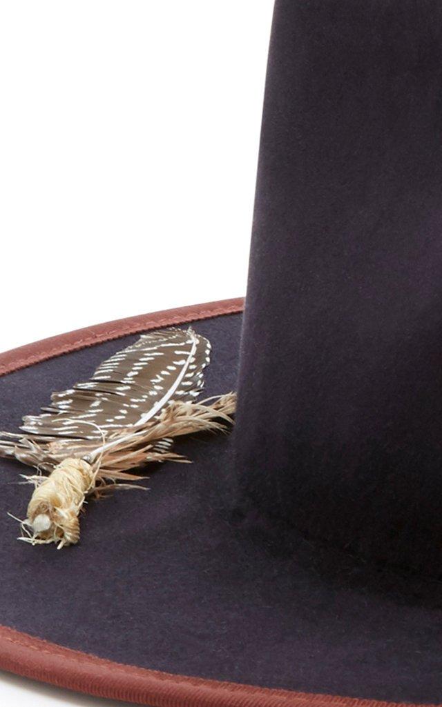Cuba Tornado Feather-Embellished Fedora