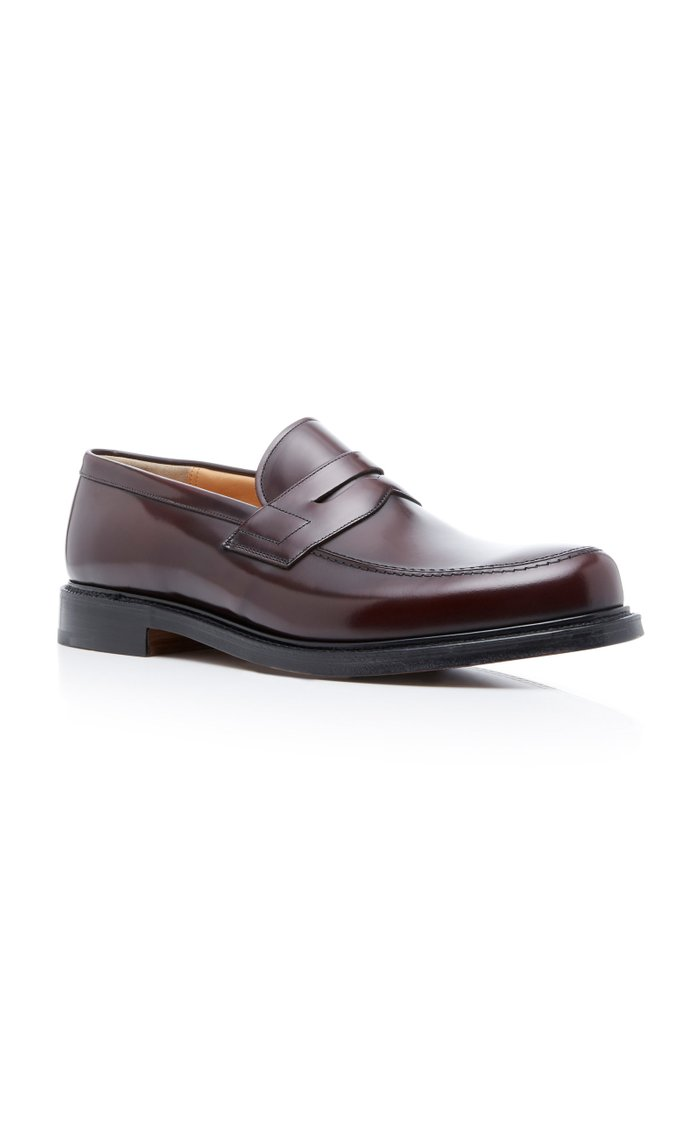 Staden Polished-Leather Penny Loafers