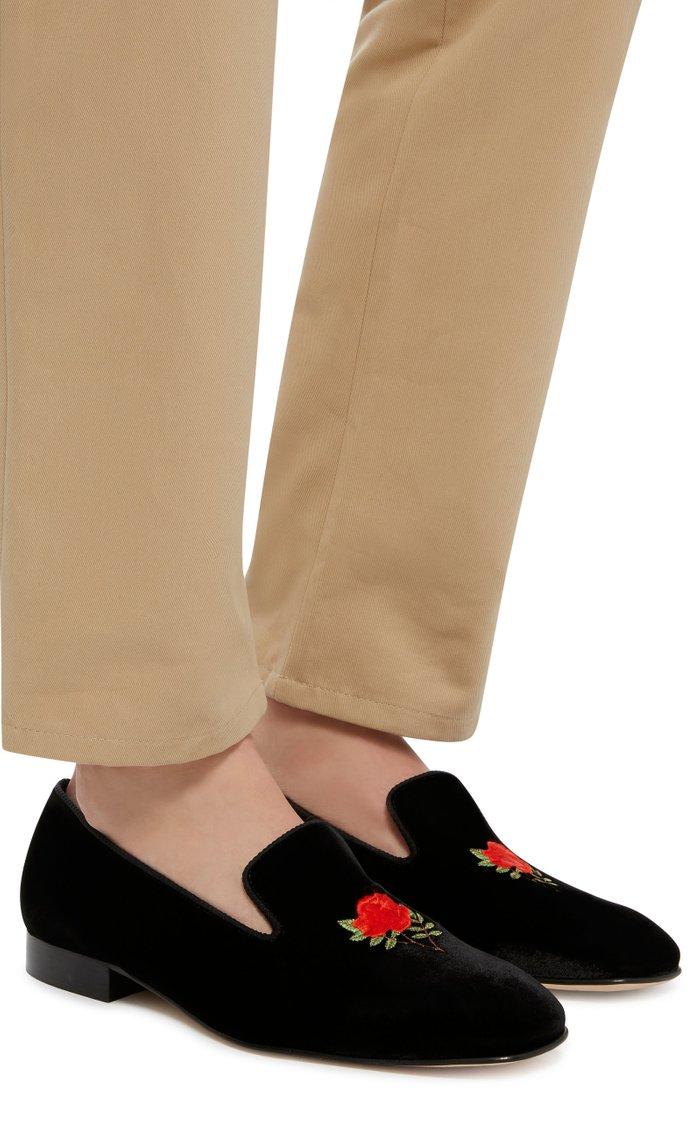 Sovereign Rose Velvet Slippers