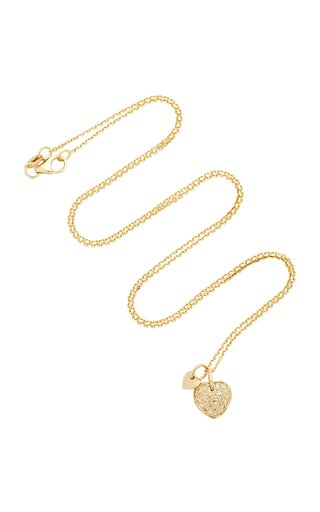 Two Hearts 18K Gold Diamond Necklace