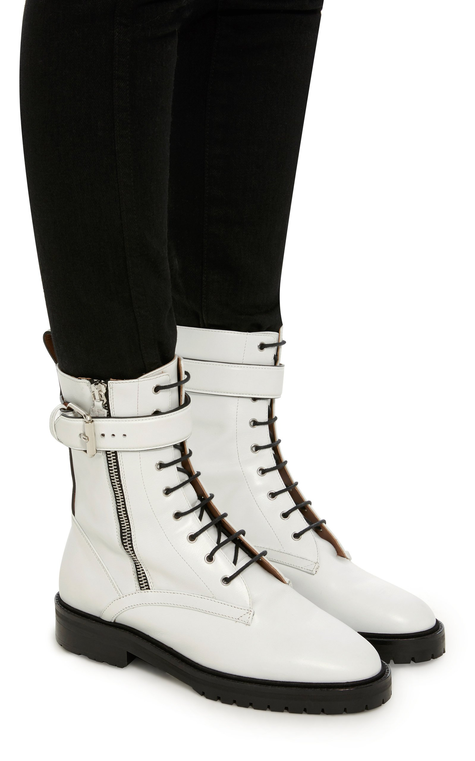 Max Leather Combat Boots By Tabitha