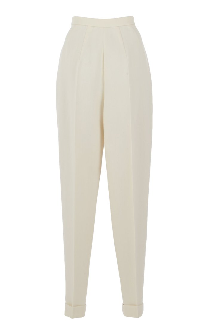 Bicolor Pleated Pants