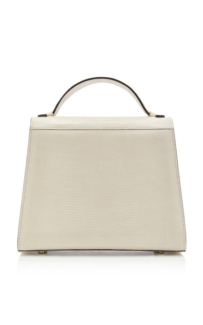 Mini Top Handle Lizard Handbag