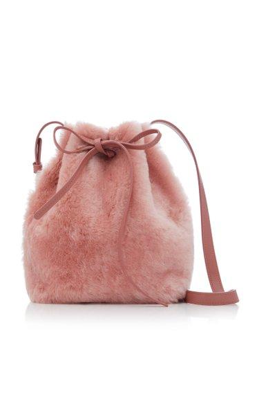 Mini Shearling Bucket Handbag