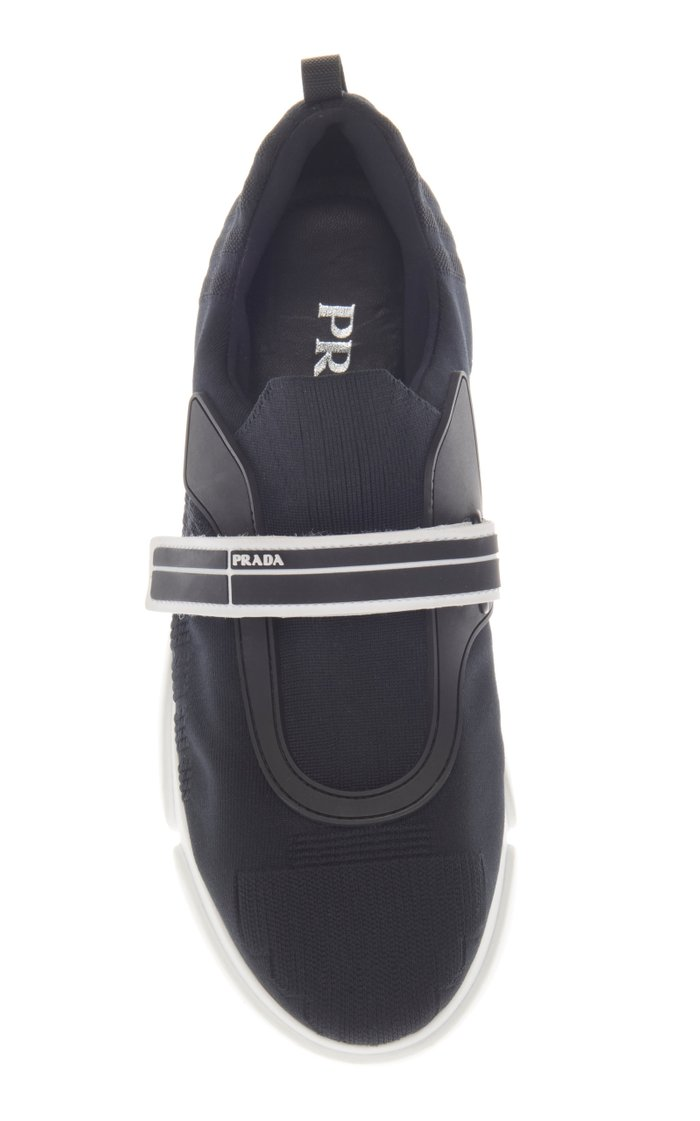 Cloudbust Rubber And Leather-Trimmed Mesh Sneakers
