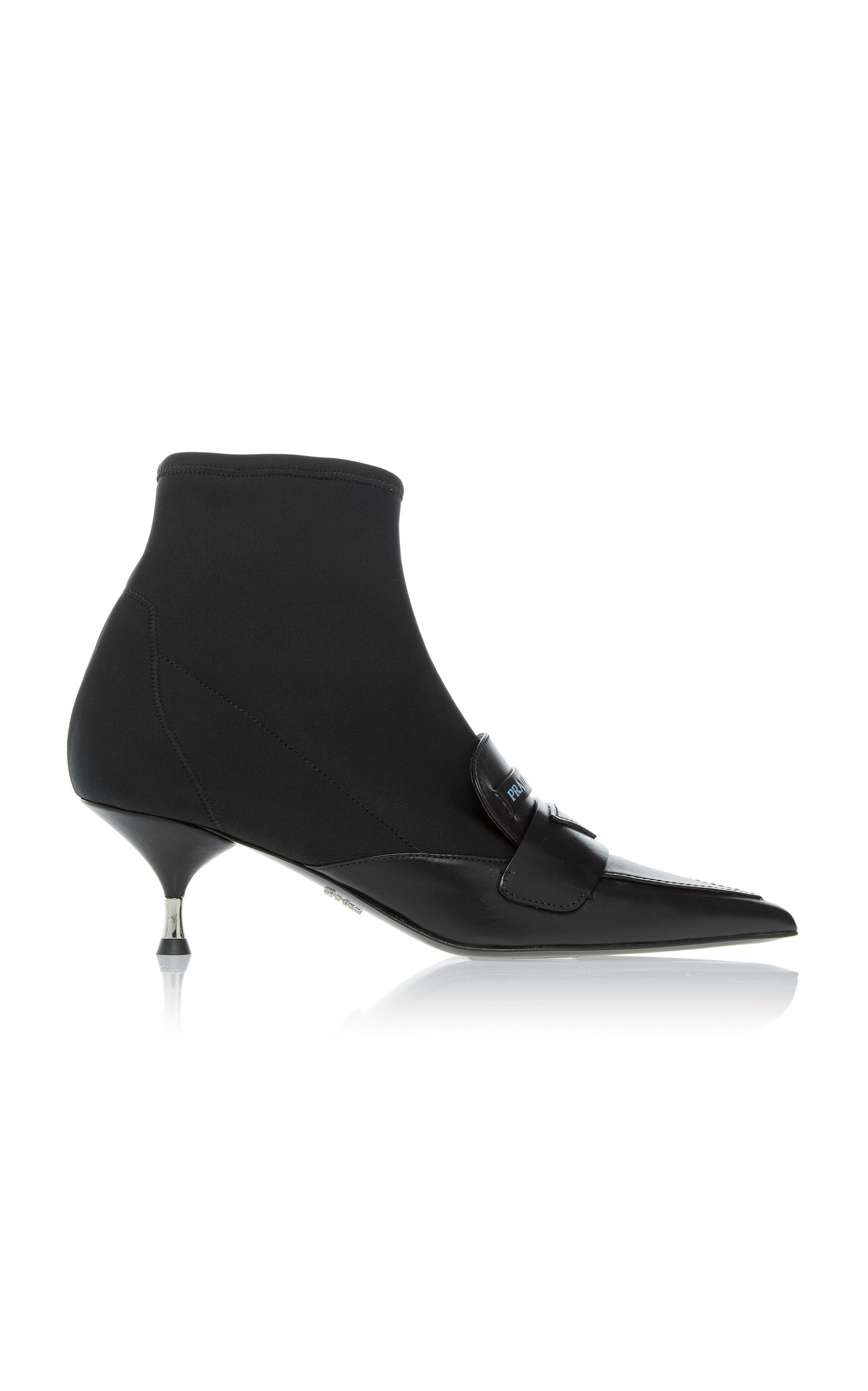 Half Sock Leather Loafer Boot By Prada